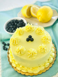 Lemon Blueberry Cake - July Cake of the Month