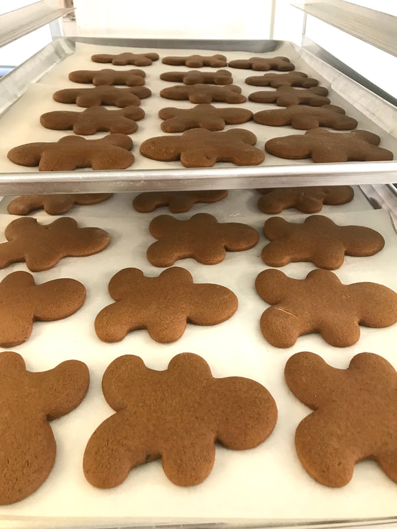 Undecorated Gingerbread Men - 12 cookies