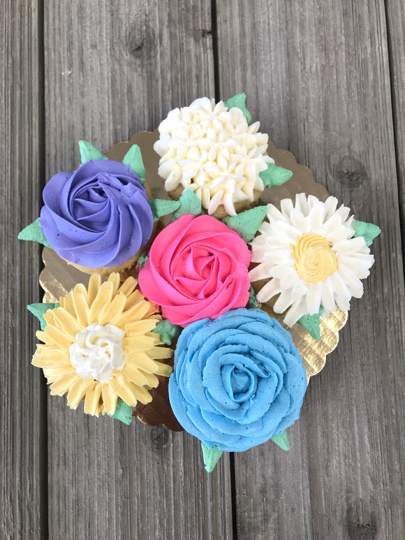 Mother's Day Bunch of Flowers (6 cupcakes)