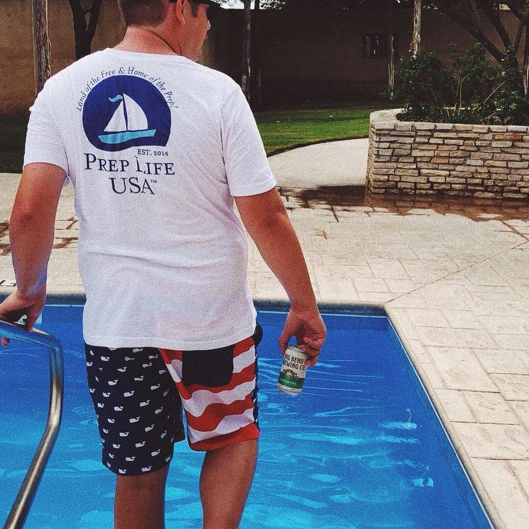 "Preppy Clothing - Support our Soldiers - Baby Blue Front and Back Logo Unisex Shirt - Use code ""FREE"" - for free shipping today! - PrepLifeUSA"