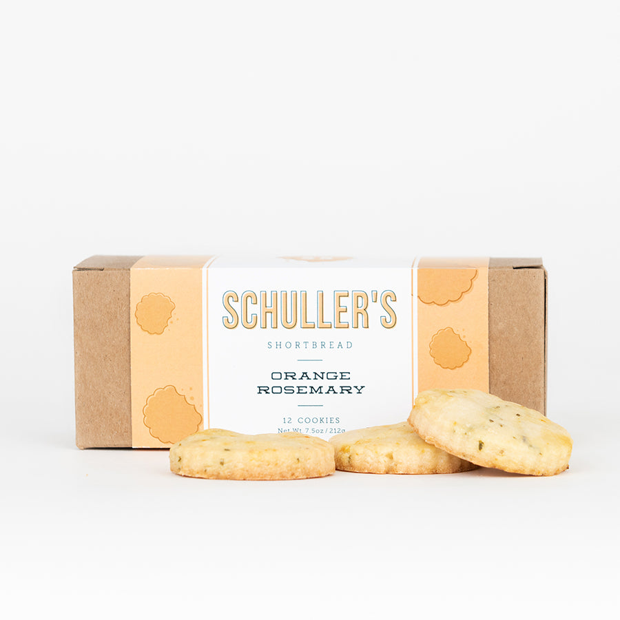 Orange Rosemary Shortbread cookies by schuller's shortbread