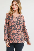 Load image into Gallery viewer, Animal Print Crisscross Wrap Top