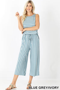 The Sandy Sleeveless Jumpsuit with Pockets - all sales final