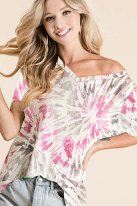 Fun in the Sun Tie dye Top - (S - XL) - all sales final