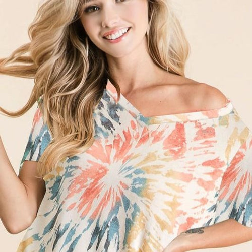 Sunset Tie dye Top - all sales final