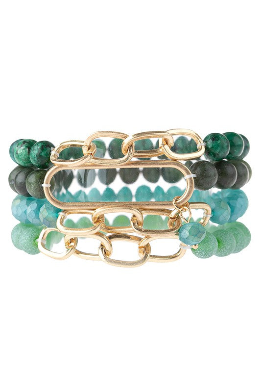 Natural Stone Stacking Bracelets