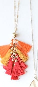 Rumba RED tassel necklace