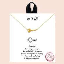 Load image into Gallery viewer, Necklace with INSPO card - GOLD - many styles!