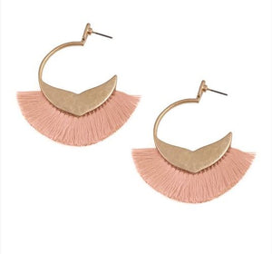 Day to Night Fringe Earrings - 2 colors