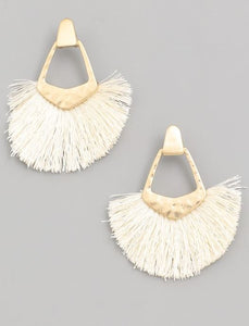 Make it Work Fringe Earrings - 4 colors