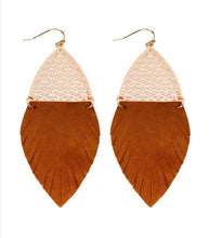 Load image into Gallery viewer, Into the Wild Fringe Earrings - 3 colors