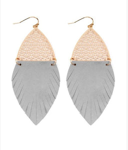 Into the Wild Fringe Earrings - 3 colors