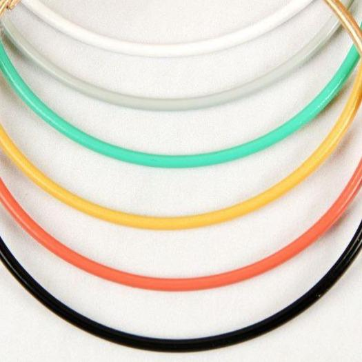 Color Dipped Hoop Earrings - 3 colors