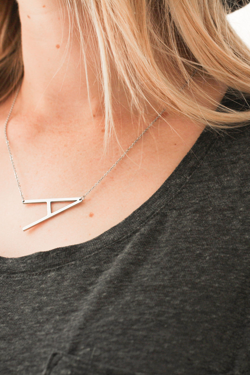 Large Initial letter necklace