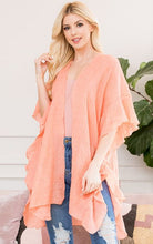 Load image into Gallery viewer, Ruffled Boho Kimono - PEACH