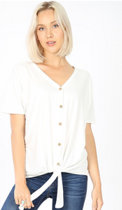 Get UP & Go Front Knot Top- MORE COLORS - all sales final