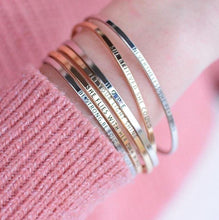Load image into Gallery viewer, GOLD - Be Empowered Skinny Bangles