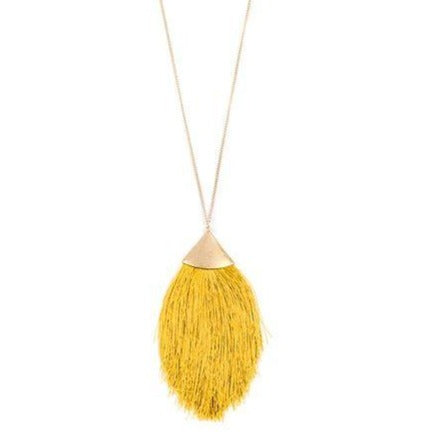 Pretty Plume Necklace - Golden
