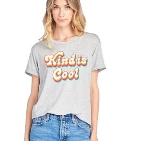 Kind is Cool Graphic Top - all sales final