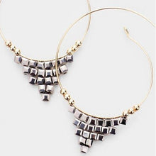 Load image into Gallery viewer, Gatsby HOOP Earrings - Charcoal - All Sales Final
