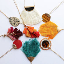 Load image into Gallery viewer, Sandy Shoreline Tassel Necklace