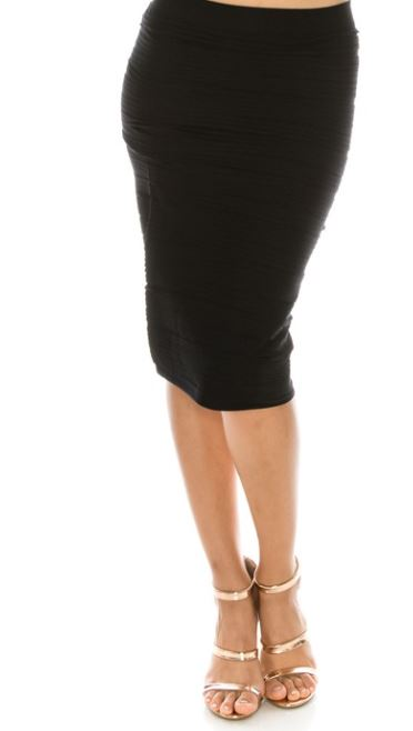 Hot Dang! Textured Pencil Skirt - 5 colors