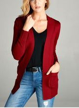 Load image into Gallery viewer, Open Front Cardigan w/ Pockets up to 2XL - more colors