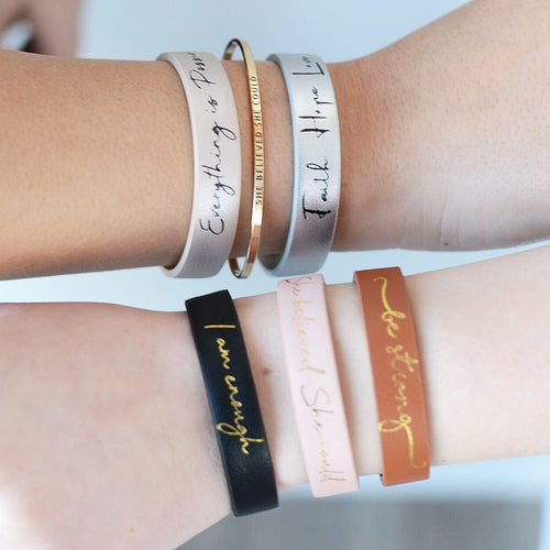 Wear Good Faux Leather Bracelets