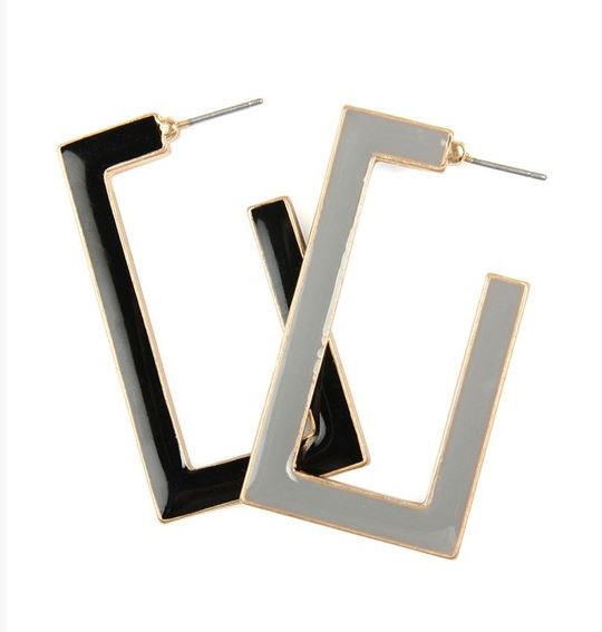 Double Sided Rectangle Earrings