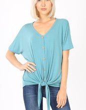 Load image into Gallery viewer, Get UP & Go Front Knot Top- MORE COLORS - all sales final