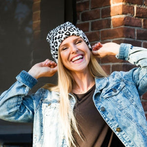 Leopard Beanie - 3 colors - all sales final