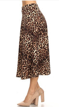 Load image into Gallery viewer, Leopard Print Midi skirt  - up to 3XL - all sales final