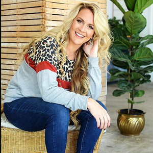 Leopard POP Cozy Sweatshirt - all sales final