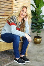 Load image into Gallery viewer, Leopard POP Cozy Sweatshirt - all sales final