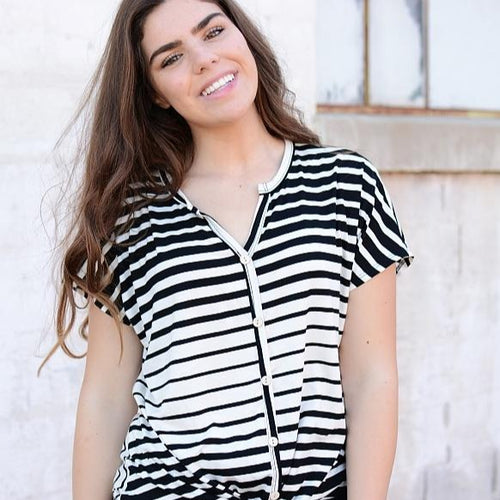 Lucky Day Striped Top - All Sales Final
