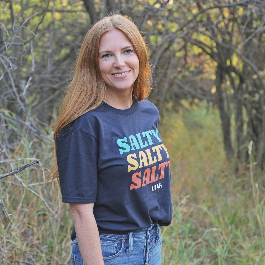 Salty Salty Salty Graphic Tee - Navy