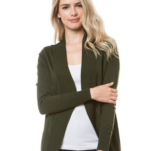 Open Front Cardigan w/ Pockets - more colors