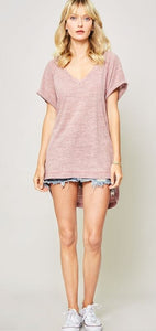 Call me Cute High-Low Raglan Tee - All Sales Final