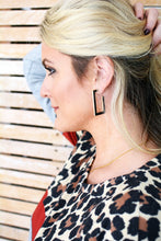 Load image into Gallery viewer, Double Sided Rectangle Earrings