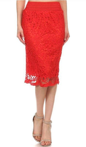 Queen of Hearts Red Skirt - all sales final