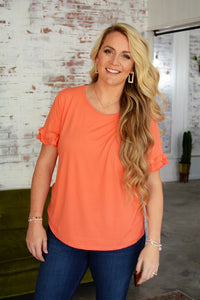 Perfect Ruffle Sleeve Top - 3 colors