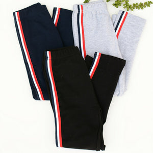 Girls Side Striped Leggings - all sales final