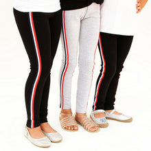 Load image into Gallery viewer, Girls Side Striped Leggings - all sales final