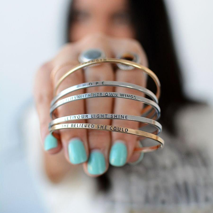 GOLD - Be Empowered Skinny Bangles