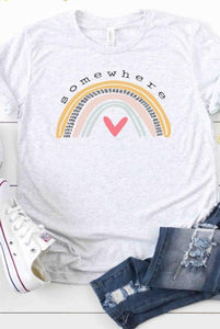 Somewhere Rainbow Graphic Tee
