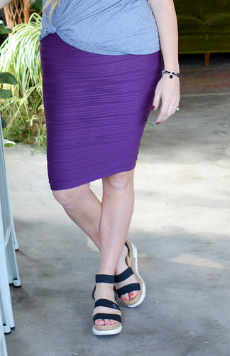 Hot Dang! Textured Pencil Skirt - more colors!