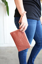 Load image into Gallery viewer, Velvet Chevron Crossbody/Clutch HandBag - 4 colors