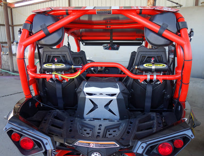 Power Shot twins co2 package on orange can am maverick