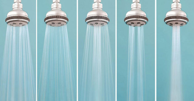 Low pressure and high pressure shower heads