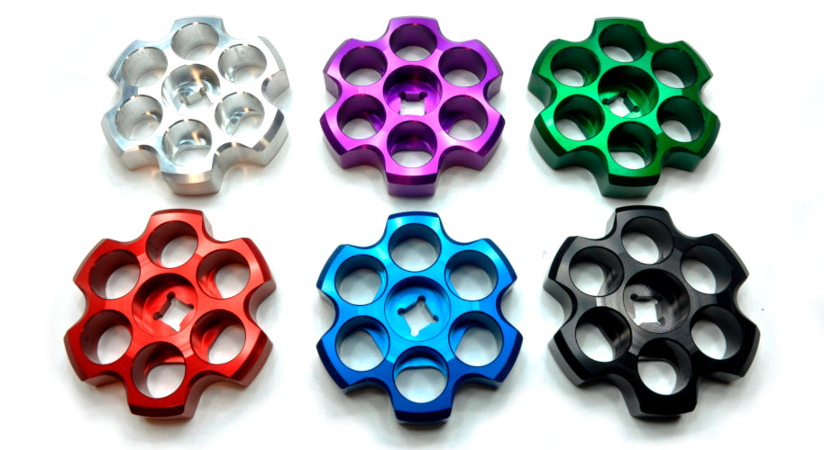machined aluminum anodized tank knobs
